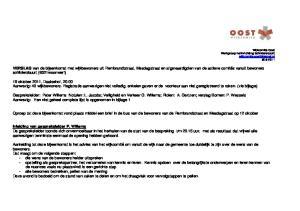 Oproep tot deze bijeenkomst vond plaats middel een brief in de bus van de bewoners van de Rembrandstraat en Mesdagstraat op 12 oktober