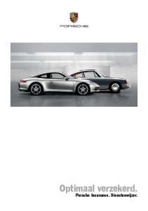 Optimaal verzekerd. Porsche Insurance. Dienstenwijzer