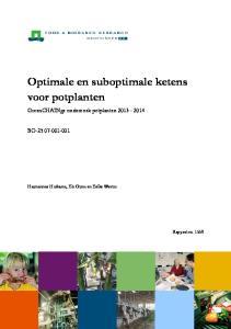 Optimale en suboptimale ketens voor potplanten