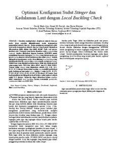 Optimasi Konfigurasi Sudut Stinger dan Kedalaman Laut dengan Local Buckling Check
