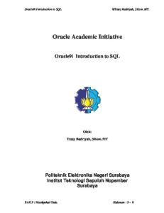 Oracle Academic Initiative