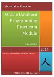 Oracle Database Programming Practicum Module
