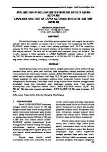 ORARI SATELLITE BATTERY SYSTEM)