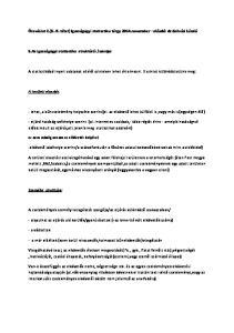 Óravázlat 2.(5.-9. tétel) Igazságügyi statisztika tárgy 2014.november előadó: dr.szilvási László