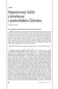 Organizovaný zločin a terorismus v postsovětském Čečensku