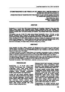 OTOMATISASI INSTALASI PENGOLAH AIR LIMBAH (IPAL) SISTEM MOBILE DI BARISTAND INDUSTRI SURABAYA ABSTRAK ABSTRACT