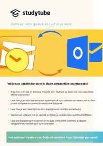 Outlook: voor gemak en rust in je werk