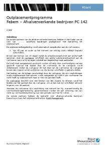 Outplacementprogramma Febem Afvalverwerkende bedrijven PC 142
