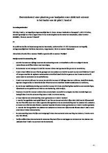 Overeenkomst voor plaatsing van laadpalen voor elektrisch vervoer in het kader van de pilot E-laad.nl