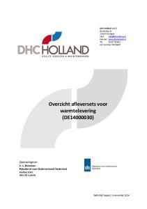 Overzicht afleversets voor warmtelevering (DE )