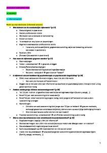 OVERZICHT BEROEPSETHIEK (A) RESPECT. 1. informatieplicht