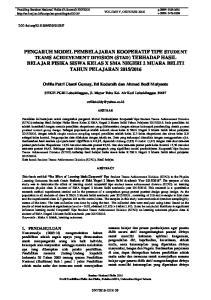 Ovilia Putri Utami Gumay, Eti Kodarsih dan Ahmad Budi Mulyanto. STKIP-PGRI Lubuklinggau, Jl. Mayor Toha Kel. Air Kuti Lubuklinggau 31617