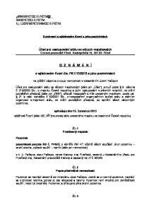 Oznámení o výběrovém řízení a jeho podmínkách. Úřad pro zastupování státu ve věcech majetkových Územní pracoviště Plzeň, Radobyčická 14, Plzeň