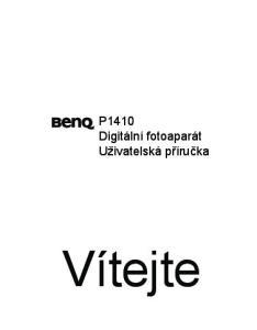 P1410 Digitální fotoaparát Uživatelská příručka. Vítejte