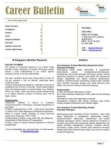 Page 1. The Editor. IE Singapore (Red Dot Payment) MODENA