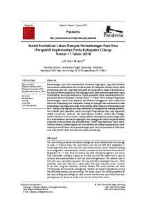 Pandecta. Model Revitalisasi Lahan Dampak Pertambangan Pasir Besi (Perspektif Implementasi Perda Kabupaten Cilacap Nomor 17 Tahun 2010)