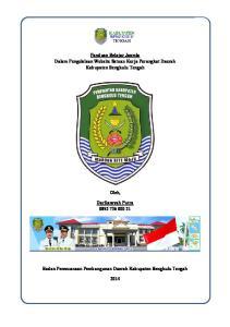 Panduan Belajar Joomla Dalam Pengelolaan Website Satuan Kerja Perangkat Daerah Kabupaten Bengkulu Tengah