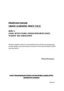 PANDUAN DASAR UBAYA LEARNING SPACE (ULS)
