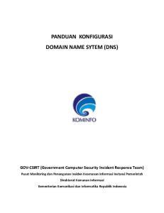 PANDUAN KONFIGURASI DOMAIN NAME SYTEM (DNS)