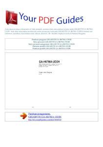 Panduan penggunamu. GIGABYTE GA-H67MA-UD2H