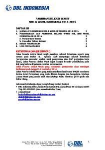 PANDUAN SELEKSI WASIT NBL & WNBL INDONESIA