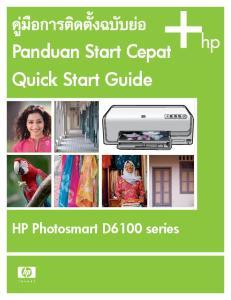 Panduan Start Cepat Quick Start Guide. HP Photosmart D6100 series