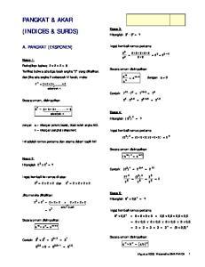 PANGKAT & AKAR (INDICES & SURDS)