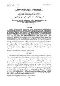Paparan Formalin Menghambat Proses Spermatogenesis pada Mencit