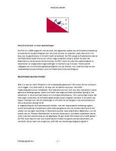 Partij Vrij Utrecht en haar doelstellingen