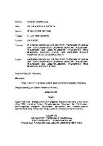 Pasal 113 dan 115 Undang-undang Dasar Sementara Republik Indonesia; MEMUTUSKAN : Pasal 1
