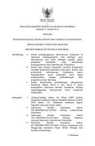 Pasal 6 Peraturan Menteri Kesehatan ini mulai berlaku pada tanggal diundangkan