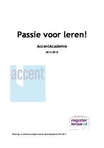 Passie voor leren! AccentAcademie