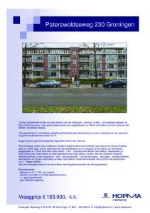 Paterswoldseweg 230 Groningen