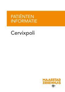 PATIËNTEN INFORMATIE. Cervixpoli