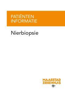PATIËNTEN INFORMATIE. Nierbiopsie
