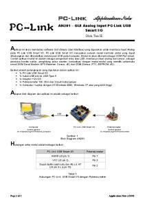 PC-Link. Gambar 1 Blok Diagram AN201. AGND (J3 pin 1) Pin 1 VCC (J3 pin 2) Pin 3 Dapat dipilih salah satu dari A0 s.d. A7 (J3 pin 3 s.d