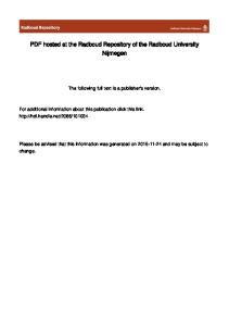 PDF hosted at the Radboud Repository of the Radboud University Nijmegen