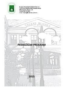 PEDAGÓGIAI PROGRAM 2015