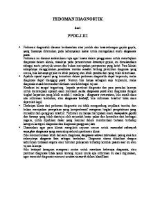 PEDOMAN DIAGNOSTIK PPDGJ-III