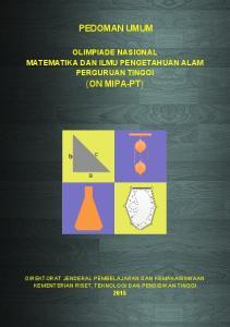PEDOMAN UMUM (ON MIPA-PT)