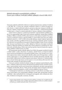 Přehled vybraných neperiodických publikací Ústavu pro studium totalitních režimů vydaných v letech *