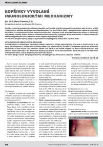 PŘEHLEDOVÉ ČLÁNKY. doc. MUDr. Marie Viktorinová, CSc. Klinika chorob kožních a pohlavních FN Olomouc