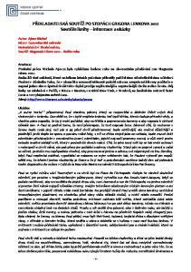 PŘEKLADATELSKÁ SOUTĚŽ PO STOPÁCH GRIGORA LENKOVA 2012 Soutěžní knihy informace a ukázky