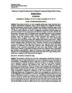 Pelaksanaan Fungsi Koordinasi Dalam Mengatasi Transportasi Ilegal di Kota Padang. Reviolla Monicca ( )
