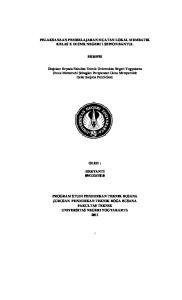 PELAKSANAAN PEMBELAJARAN MUATAN LOKAL MEMBATIK KELAS X DI SMK NEGERI 1 SEWON BANTUL SKRIPSI