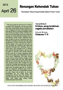 PELATIHAN PENGGEMBALAAN NEHEMIA MELAYANI UNTUK GEREJA INDONESIA