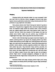 PELINGKUNG PEMBANGUNAN PERTANIAN DI INDONESIA 1