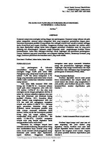 PELUANG DAN TANTANGAN PENGEMBANGAN BIODIESEL DI INDONESIA : Artikel Review. Zulfikar *) ABSTRAK