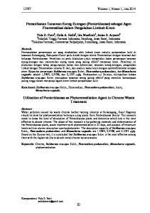 Pemanfaatan Tanaman Eceng-Ecengan (Ponteridaceae) sebagai Agen Fitoremediasi dalam Pengolahan Limbah Krom