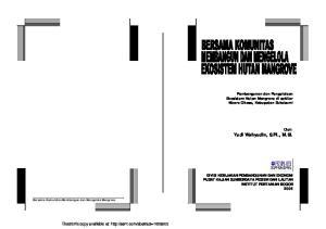 Pembangunan dan Pengelolaan Ekosistem Hutan Mangrove di sekitar Muara Cikaso, Kabupaten Sukabumi. Oleh: Yudi Wahyudin, S.Pi., M.Si